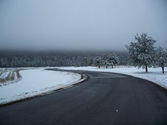 Winter Fog at Lake